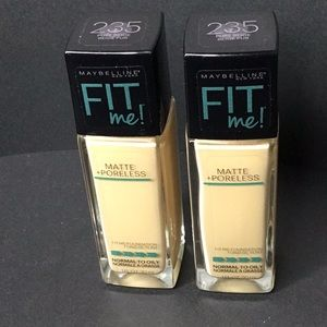 Maybelline Fit Me! Pure Beige #235 x 2 Bottles